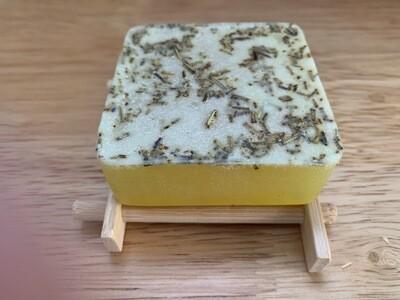 Rosemary & Lemon Soap- On Tray