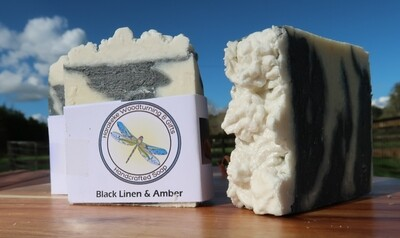 Black Linen & Amber Soap
