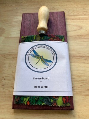 Mini Cheese4 Board, Knife & Bees Wax Wrap