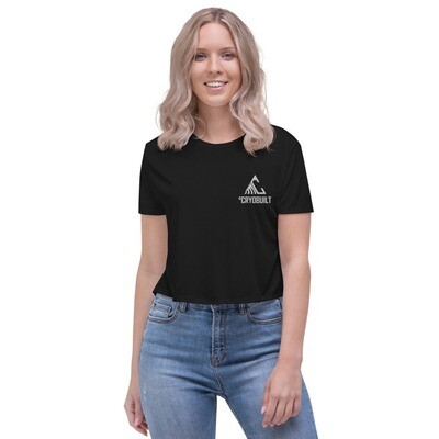 Embroidered Crop Tee