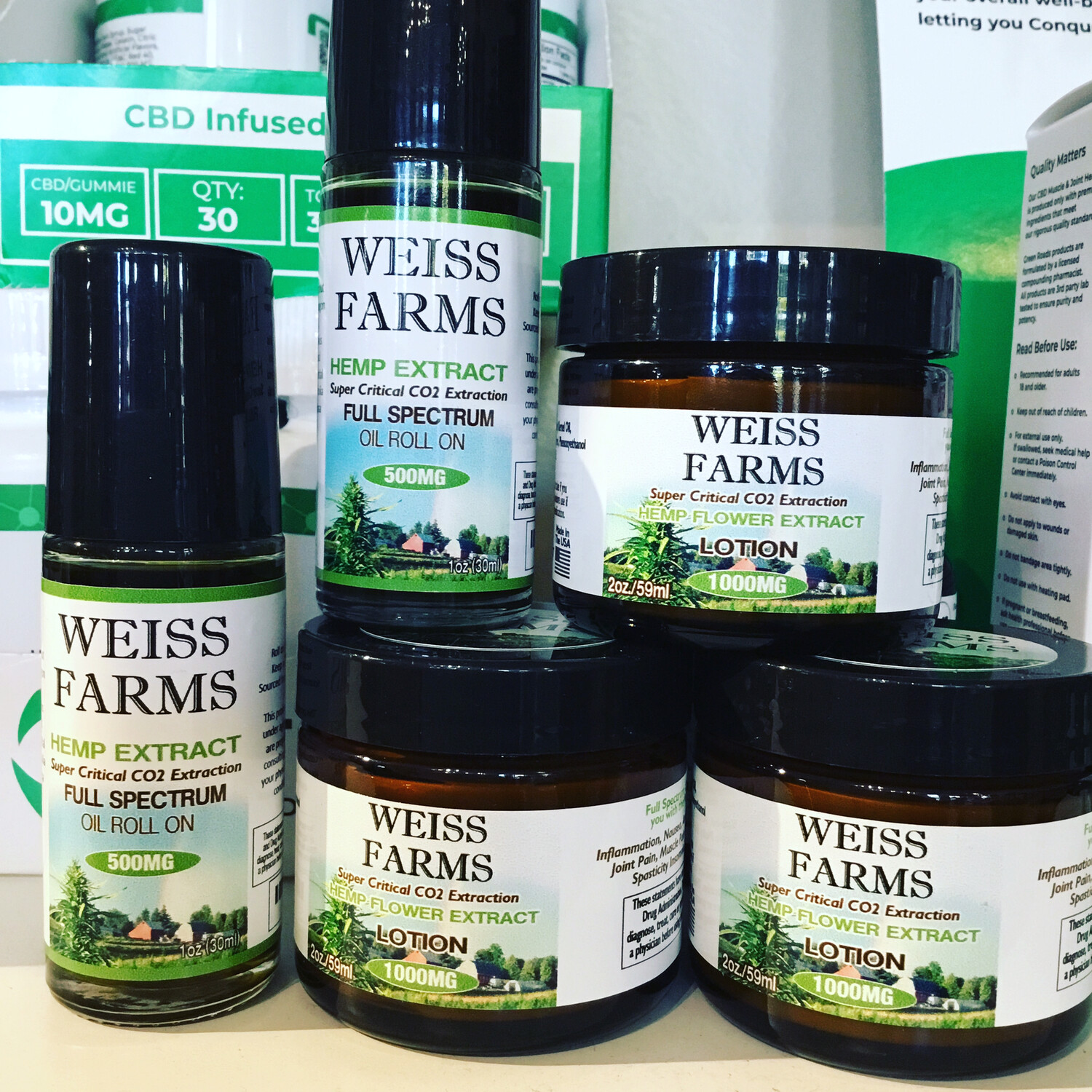 Weiss Farms CBD Cream 1000 Mg