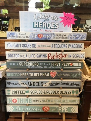 Celebrate Our Heroes Word Signs