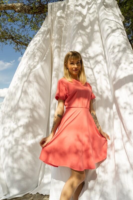 Basic Dress A-Line Blush