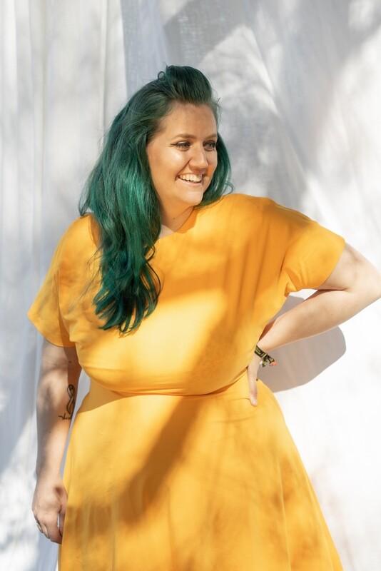 Basic Dress A-Line Tangerine