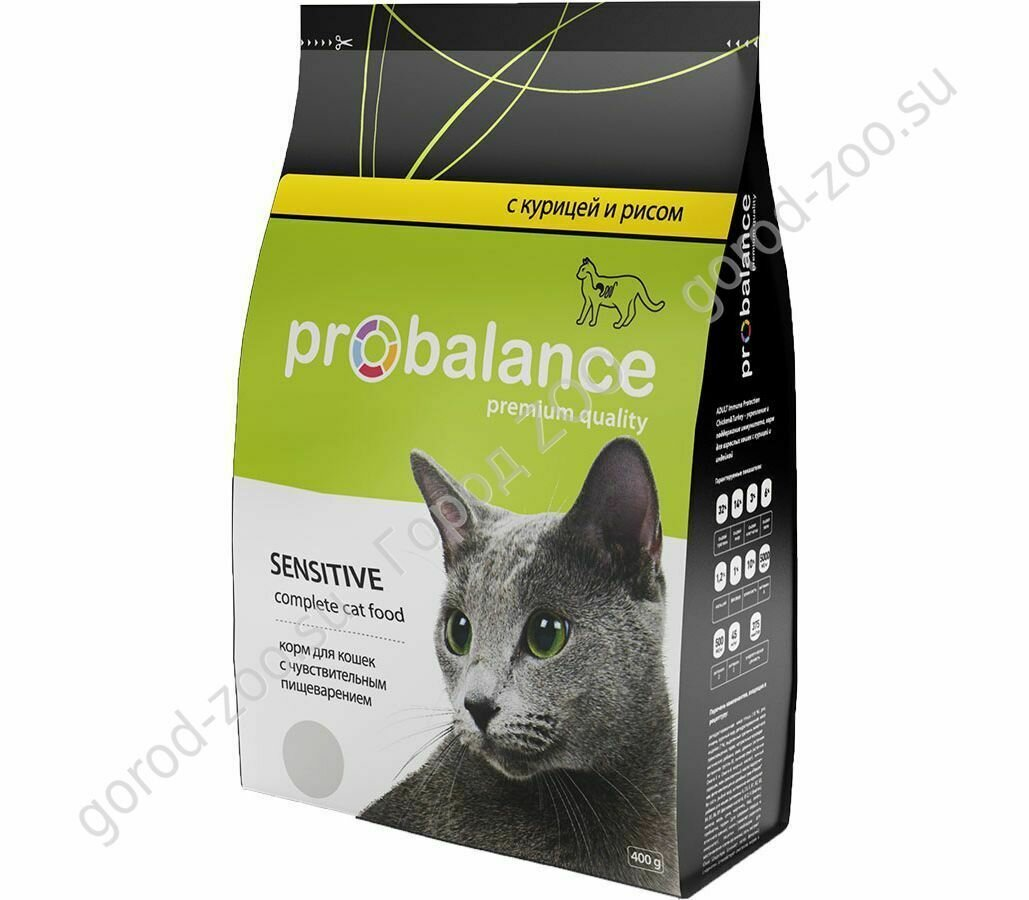 Пробаланс ProBalance корм сух.д/кошек Sensitive c чувств.пищев. 400гр