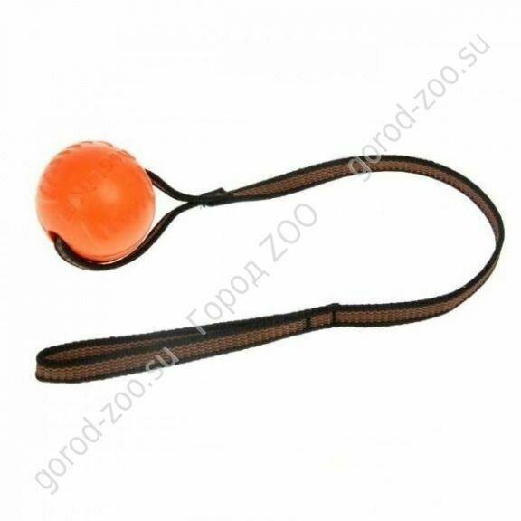 Доглайк Doglike мяч малый с лентой Оранжевый