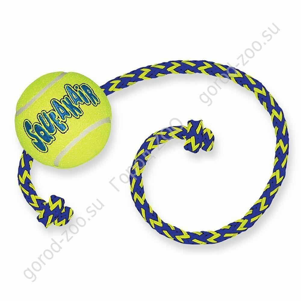 """Конг Kong игр д/собак Air """"Теннисный мяч"""" с канатом средний"""