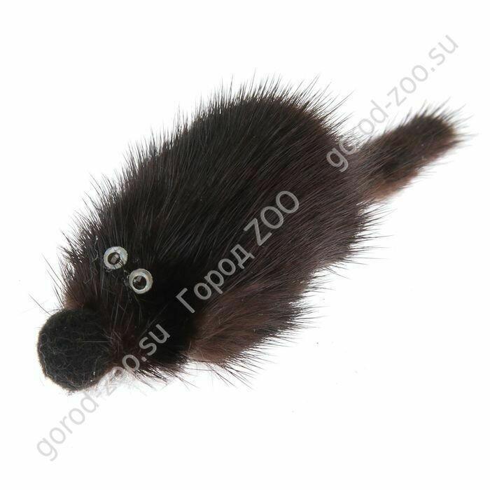 """Госи Игрушка """"Мышь норка M"""" GoSi без уп. (мышь из натуральной норки 5см)"""