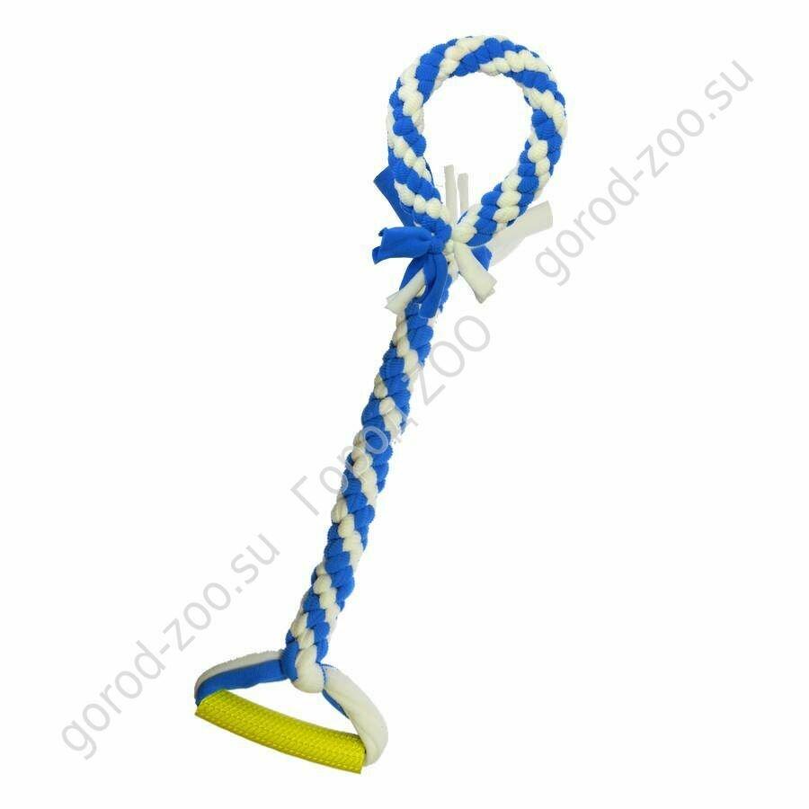 Госи Игрушка жевательная для собак Bubble Gum Жгут с ручкой и Кольцо GoSi без уп.