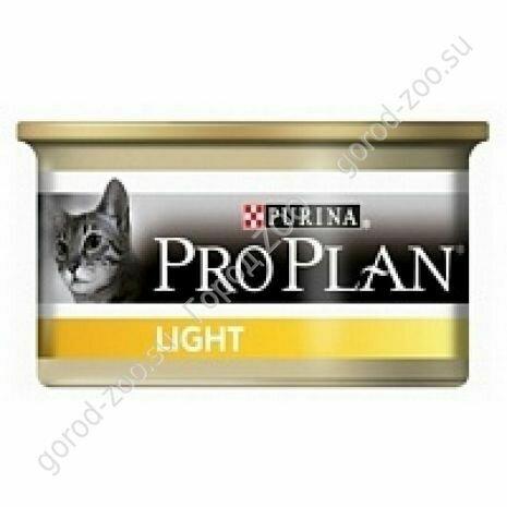ПроПлан 85г конс.д/кош.Light индейка