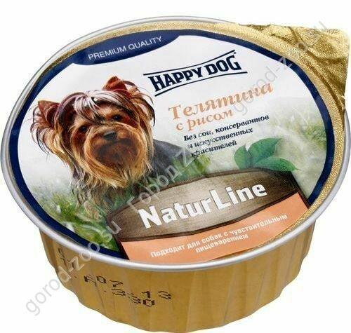 Хэппи Дог конс. паштет Счастливый пес 0,125 кг Телятина/рис