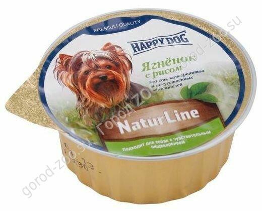Хэппи Дог конс. паштет Счастливый пес 0,125 кг Ягнёнок/рис