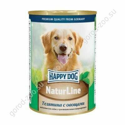 Хэппи Дог конс. д/собак 400г Телятина/овощи