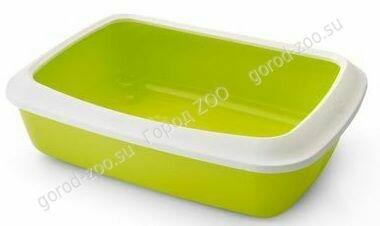 Туалет д/кош Litter Tray ISIS42см с бортом лимонный( SAVIC)