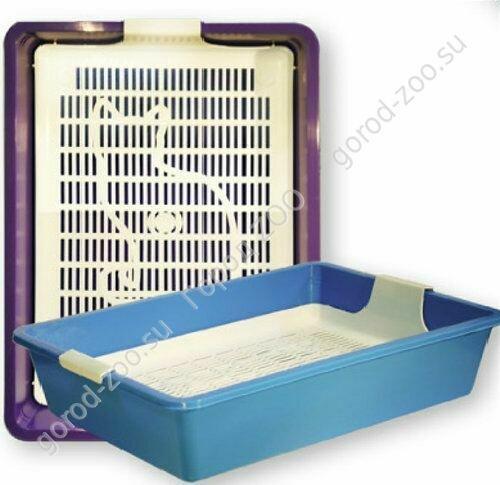 Туалет д/кош КИС глубокий с сеткой без рамки 40,5х30х9 см
