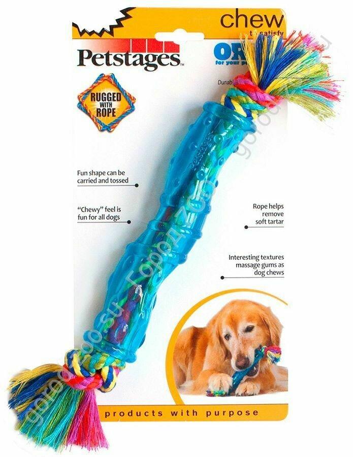 """Петстейдж Petstages игрушка для собак """"ОРКА палочка"""" средняя"""