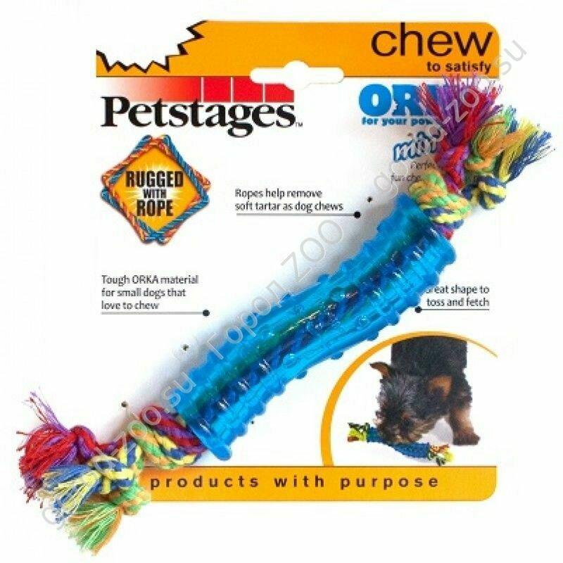 """Петстейдж Petstages игрушка для собак Mini """"ОРКА палочка"""" 18 см маленькая"""