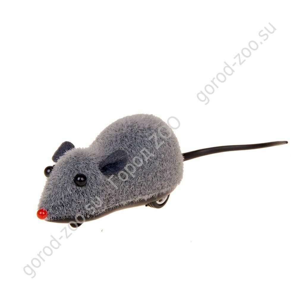 Мышь заводная большая