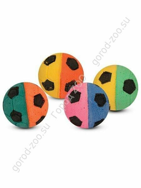 Мяч футбольный двухцветный