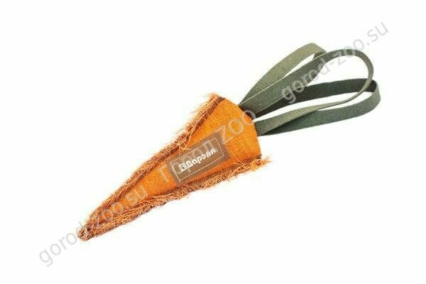 Тягалка-аппорт Морковь брез. 25 см с тройной ручкой