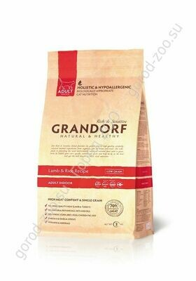 Грандорф GRANDORF CAT Lamb&Rice INDOOR (Ягненок с рисом для кошек) 400гр