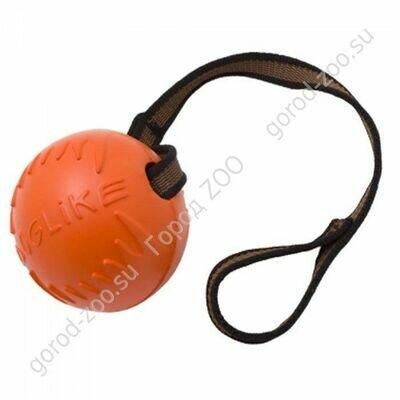 Доглайк Doglike мяч средний с лентой Оранжевый