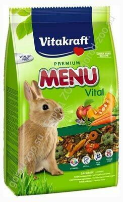 Витакрафт Vitakraft д/кроликов корм основной 1 кг MENU VITAL