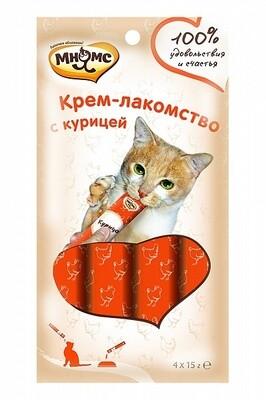 Мнямс Крем-лакомство для кошек 1шт(Выбери вкус)
