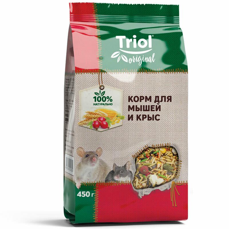 Триол Triol Original корм д/мышей и крыс 450г