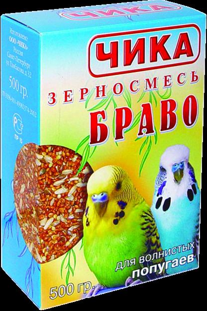 ЧИКА 500г Браво д/волн.попуг.