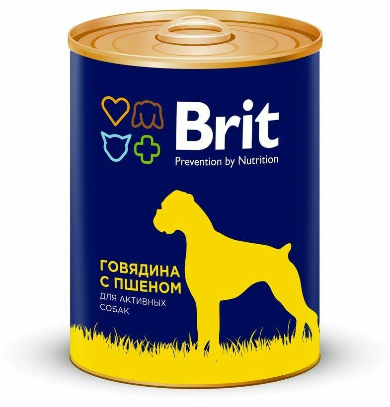 Брит премиум BRIT PREMIUM конс.д/соб 850г говядина и пшено
