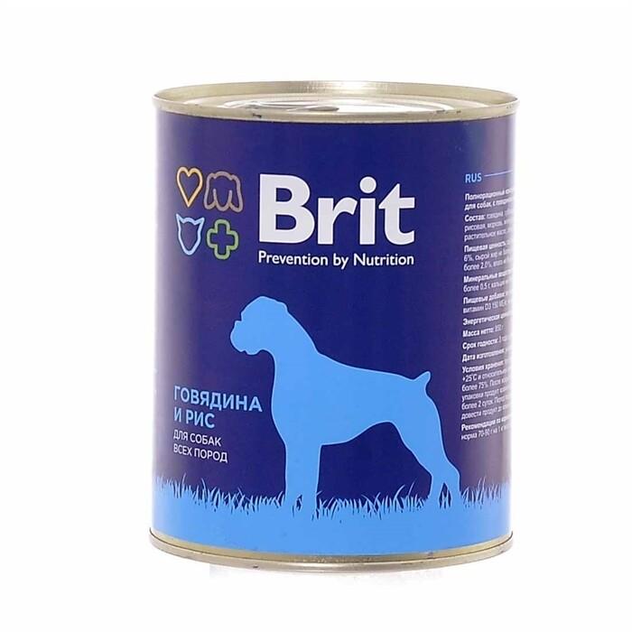 Брит премиум BRIT PREMIUM конс.д/соб 850г говядина и рис