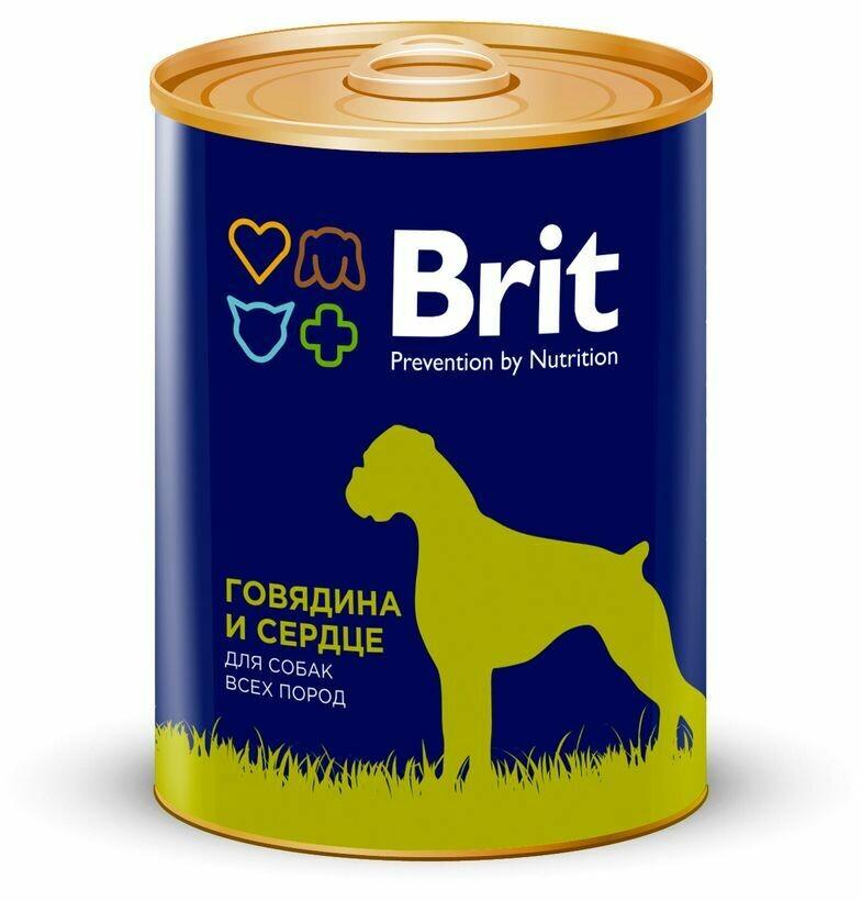 Брит премиум BRIT PREMIUM конс.д/соб 850г говядина и сердце