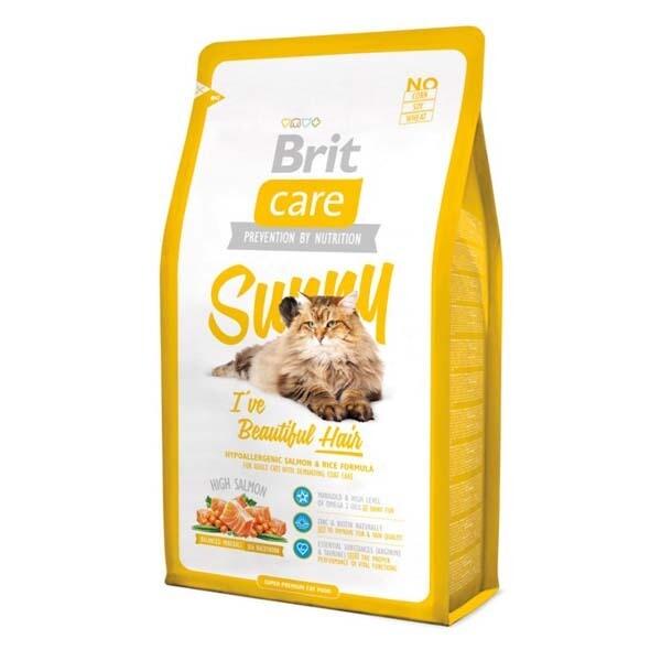 Брит кеа BRIT Care Cat Sunny Beautiful Hair д/кошек 400гр