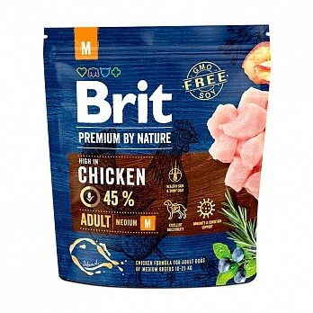 Брит премиум BRIT PREMIUM by Nature  д/собак средних пород 1кг