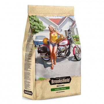 Бруксфилд Brooksfield Adult Hairball Control Говядина/рис д/кош 400гр
