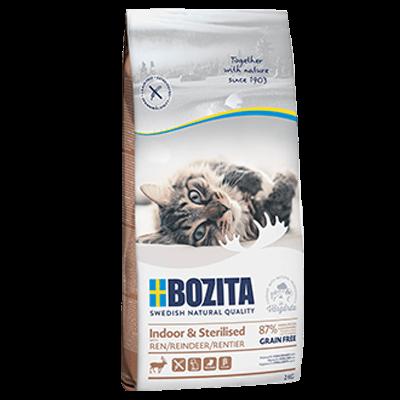 Бозита BOZITA сух д/кош раст и взр.малоп. Indoor&Sterilized GF с оленем, беззерновой 2кг