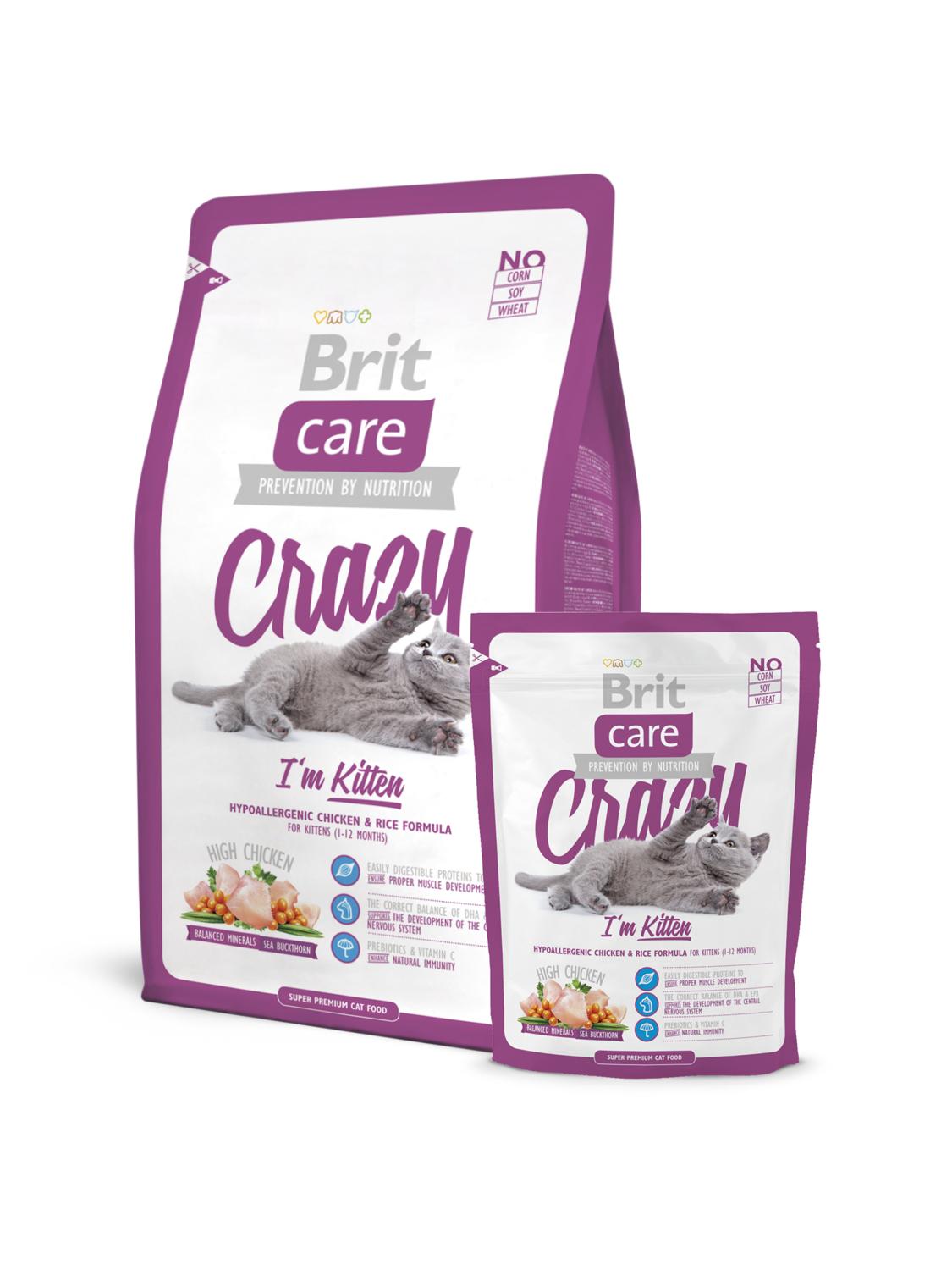 Брит кеа BRIT Care Cat Crazy Kitten д/котят 400гр