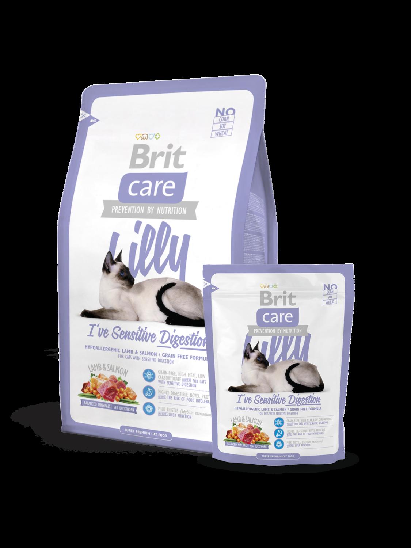 Брит кеа BRIT Care Cat Lilly д/кошек  с чувст.пищеварением 400гр