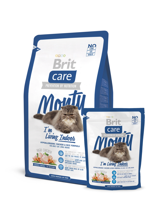 Брит кеа BRIT Care Cat Monty Indoor д/кошек жив.в квартирах 400гр