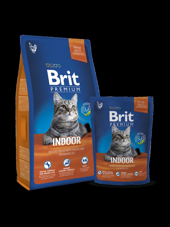 Брит премиум BRIT Premium Cat Indor д/кош.дом.содерж.Курица/Печень 300гр
