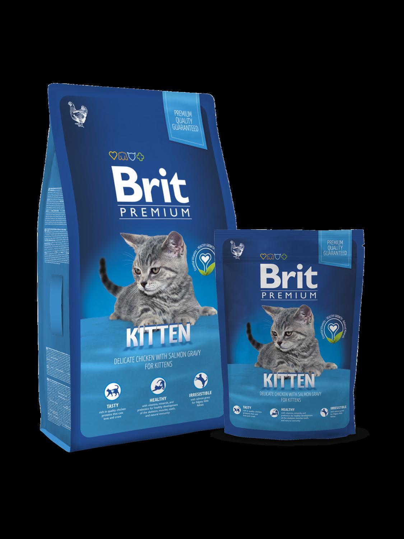 Брит премиум BRIT Premium Cat д/котят с курицей в лососевом соусе 300гр