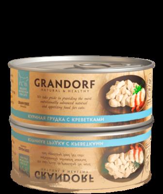Грандорф Консервы для кошек Куриная грудка с креветками 70 гр.