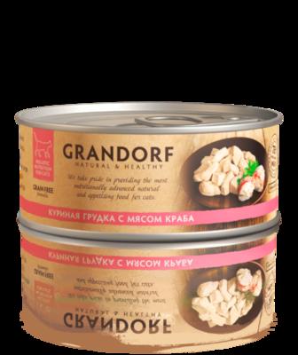Грандорф Консервы для кошек Куриная грудка с мясом краба 70 гр.