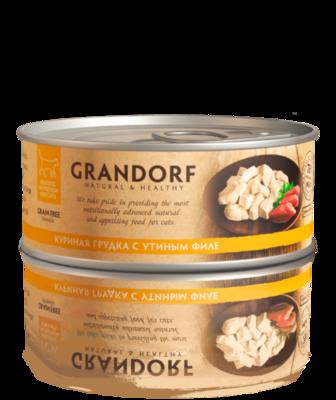 Грандорф Консервы для кошек Куриная грудка с утиным филе 70 гр.