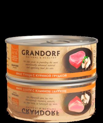 Грандорф Консервы для кошек Филе тунца с куриной грудкой 70 гр.