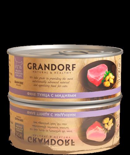 Грандорф Консервы для кошек Филе тунца с мидиями 70 гр.