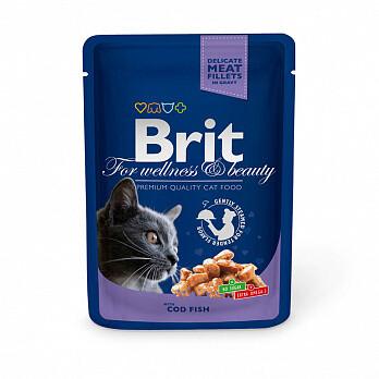 Брит премиум BRIT Premium влаж. д/кошек 100г Треска