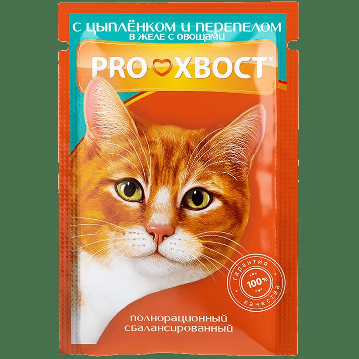 Прохвост PROХВОСТ влаж.д/кошек 85г цыпленок/перепел в желе