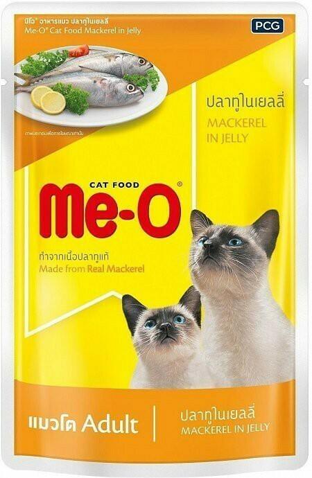 Мео Me-O влаж.д/кошек 80г макрель в желе